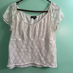 AGB White Cute Top